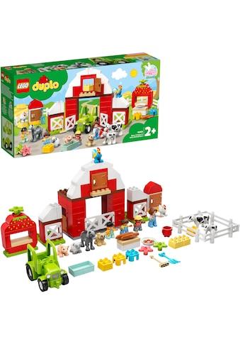 LEGO® Konstruktionsspielsteine »Scheune, Traktor und Tierpflege (10952), LEGO® DUPLO®... kaufen