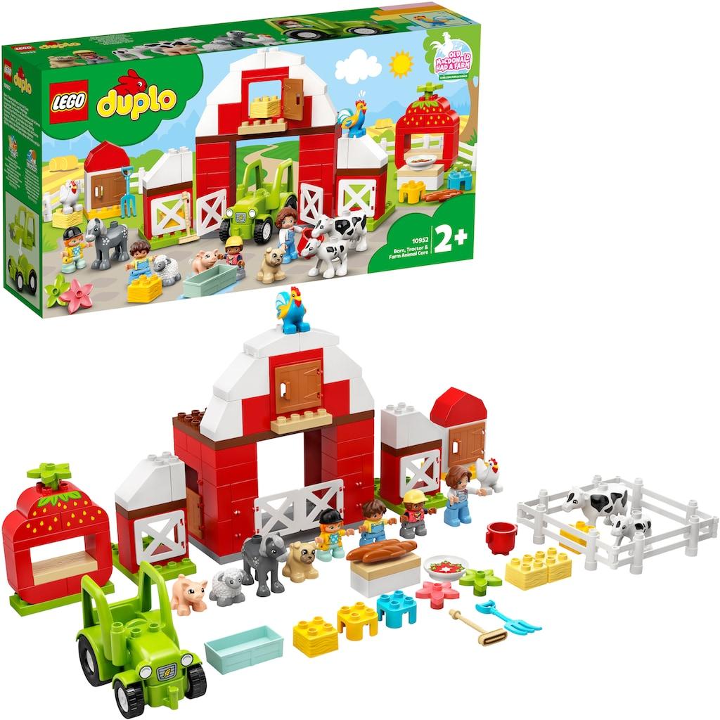 LEGO® Konstruktionsspielsteine »Scheune, Traktor und Tierpflege (10952), LEGO® DUPLO® Town«, (97 St.), Made in Europe