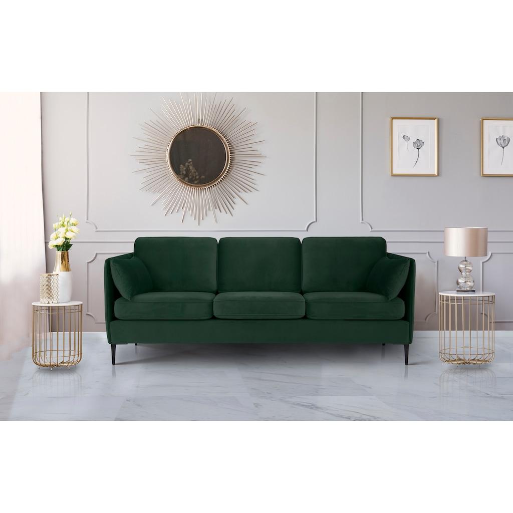 Leonique 3-Sitzer »Light«, inklusive loser Zierkissen, mit schmalen Armlehnen und Teleskopfüßen