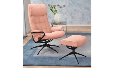 Stressless® Relaxsessel »London«, mit Hocker, High Back, mit Star Base, Gestell Schwarz kaufen