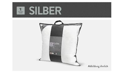 SPESSARTTRAUM Baumwollkissen »Silber«, (1 St.), hergestellt in Deutschland, allergikerfreundlich kaufen