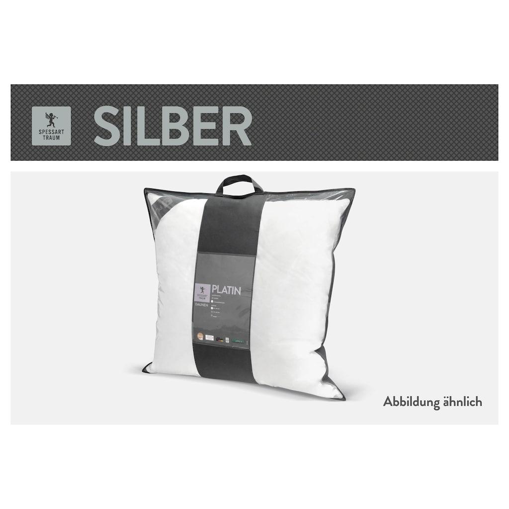 SPESSARTTRAUM Baumwollkissen »Silber«, (1 St.), hergestellt in Deutschland, allergikerfreundlich