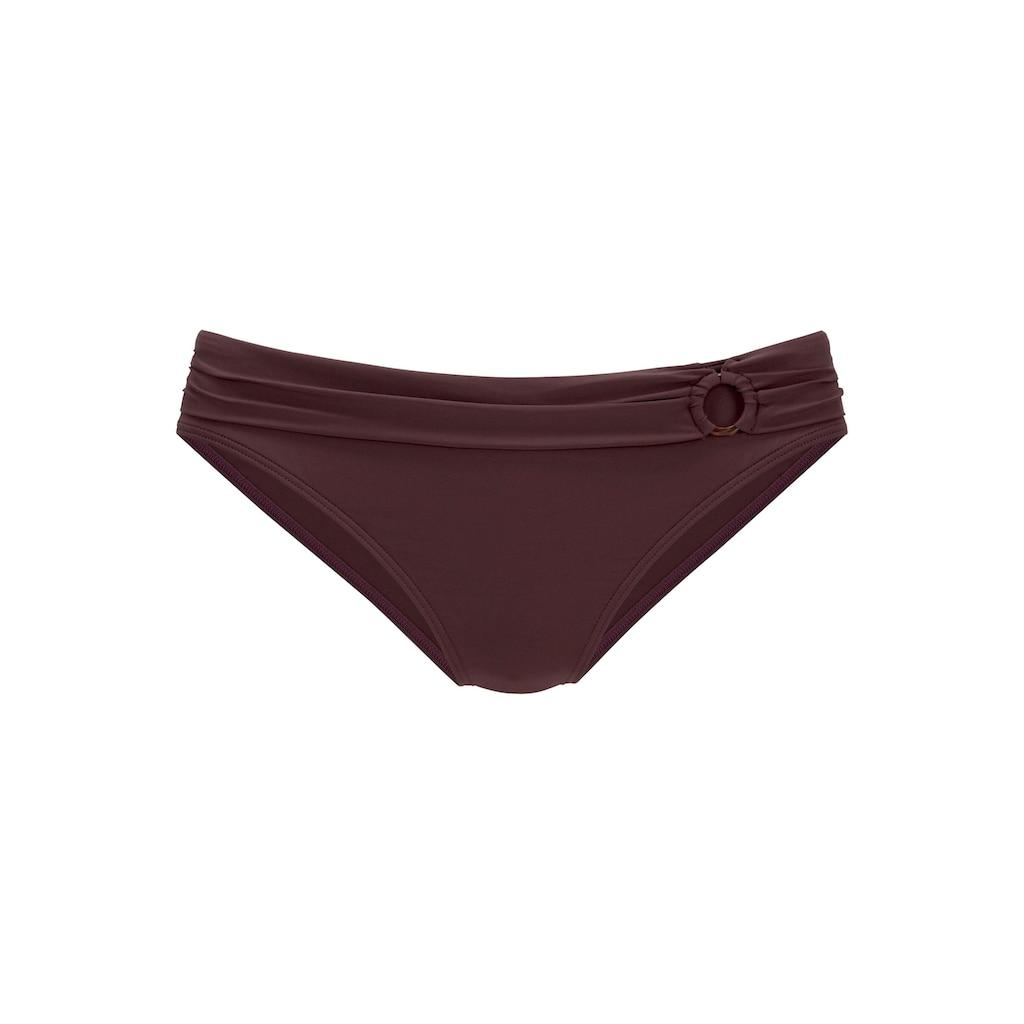 s.Oliver Beachwear Bikini-Hose »Rome«, mit Umschlagbund