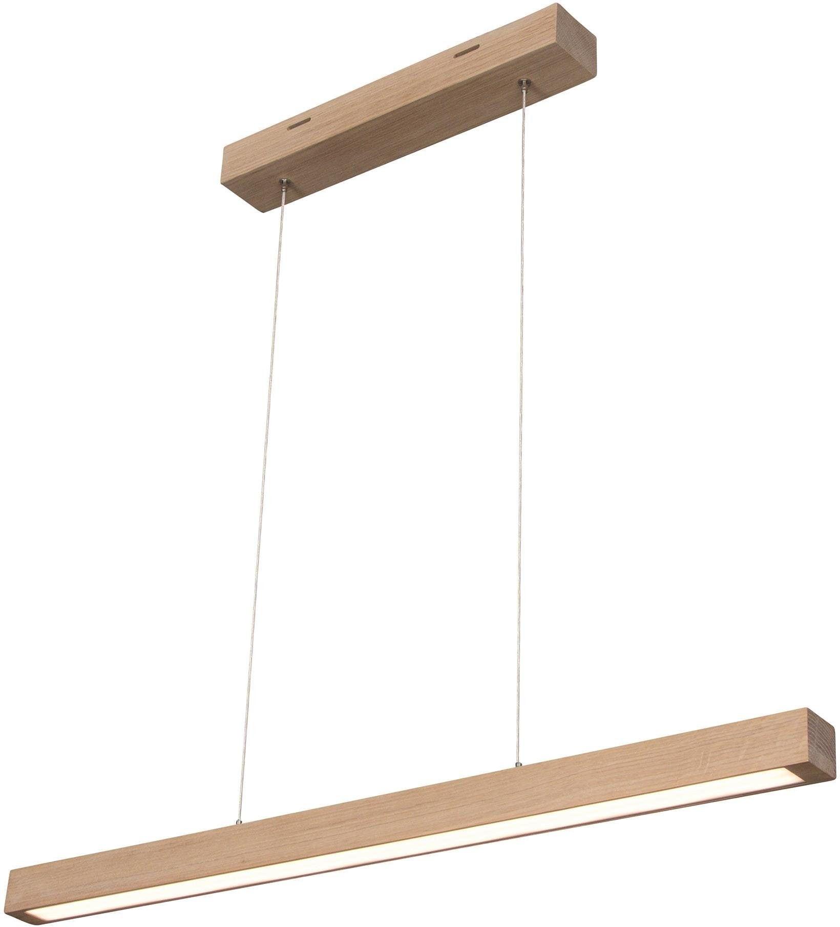 SPOT Light Pendelleuchte SMAL 2LED, LED-Modul, Warmweiß, Hängeleuchte, mit integriertem 24V-LED-Modul, mit Touch Dimmer, aus edlem Eichenholz, Naturprodukt FSC-zertifiziert, Made in Europe