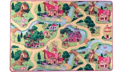 Living Line Kinderteppich »Feenwelt«, rechteckig, 7 mm Höhe, Straßen-Spielteppich kaufen