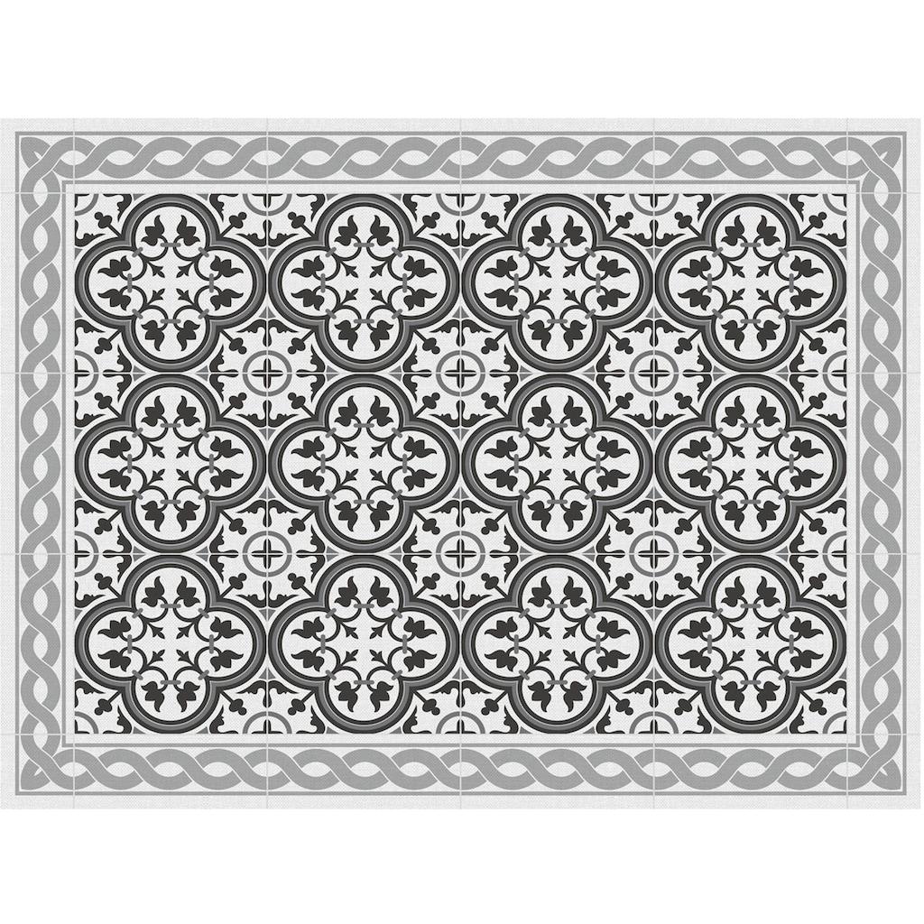 Contento Platzset »Matteo, Tiles, portugese grey«, (Set, 4 St.), für innen und außen geeignet, wasserabweisend