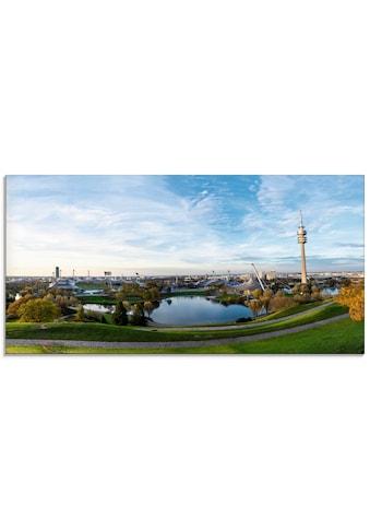 Artland Glasbild »Olympiapark in München«, Deutschland, (1 St.) kaufen