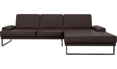 GALLERY M Ecksofa »Viola«, mit Sitztiefenverstellung, mit Metallkufe kaufen