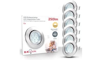 B.K.Licht LED Einbauleuchte »Hila«, GU10, 6 St., Warmweiß, LED Einbaustrahler... kaufen