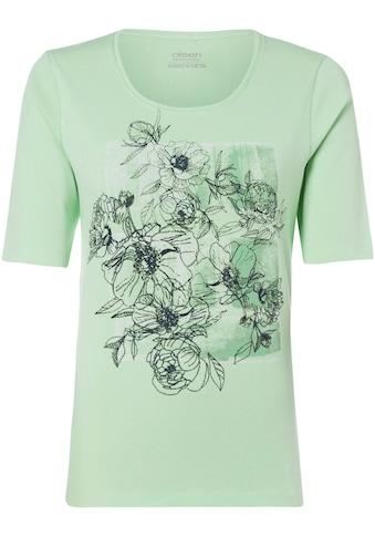 Olsen Rundhalsshirt, aus Bio-Baumwolle mit floral bedrucktem Vorderteil kaufen