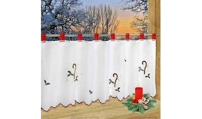 Delindo Lifestyle Scheibengardine »ADVENTSZEIT«, HxB: 45x115, mit Schlaufenaufhängung, für die Küche kaufen