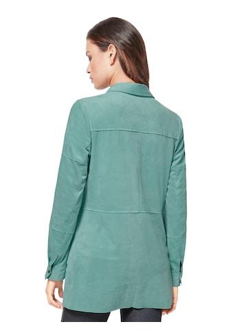 Creation L Velourslederimitat - Bluse in figurschmeichelnder Longform kaufen