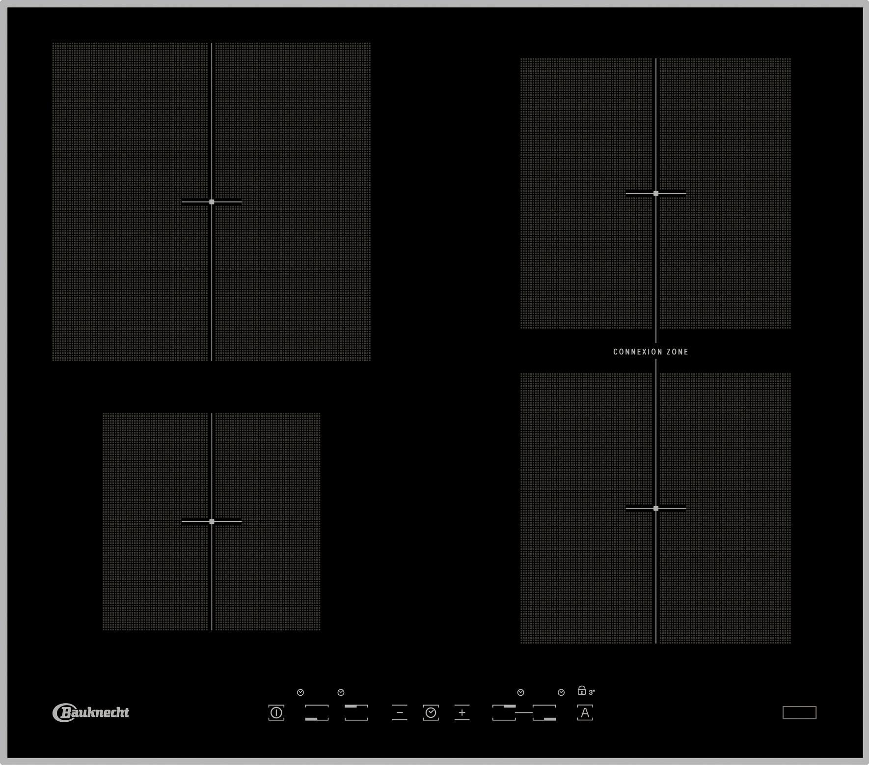 bauknecht induktions kochfeld von schott ceran online. Black Bedroom Furniture Sets. Home Design Ideas