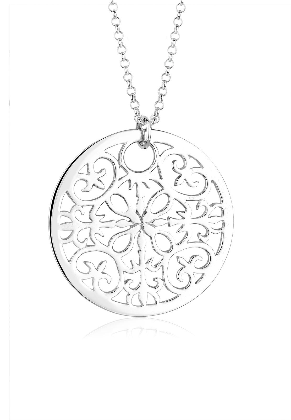 elli -  Kette mit Anhänger Ornament Symbol Anhänger Rund 925 Silber