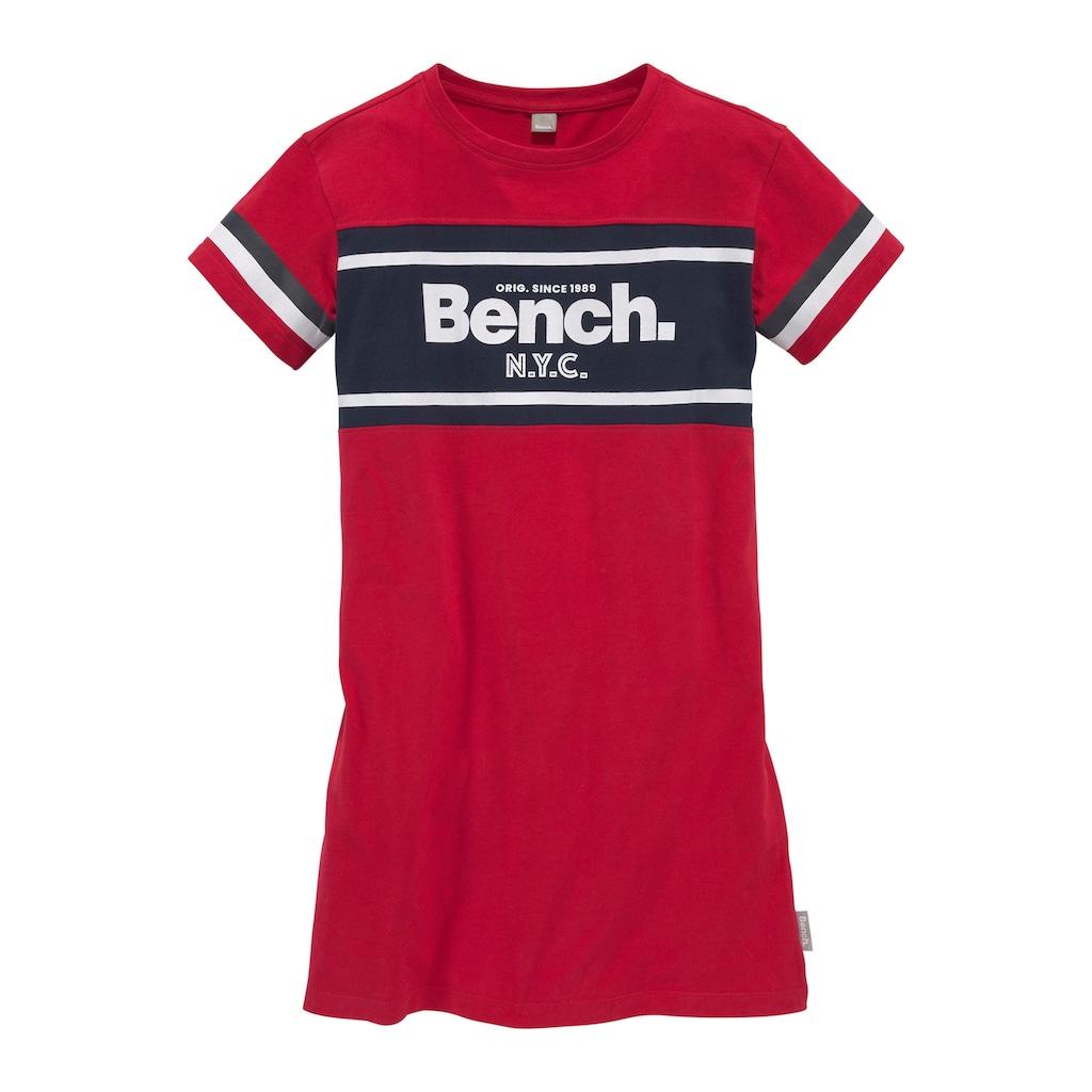Bench. Jerseykleid, mit Einsatz und Logoschriftzug