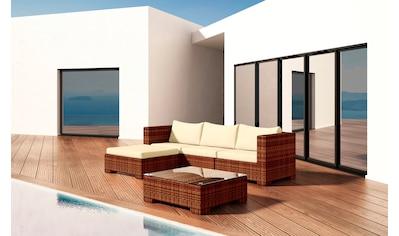 BAIDANI Loungeset »Beach«, 12 - tlg., 3 - Sitzer, Hocker, Tisch 70x70 cm, Alu/Polyester kaufen