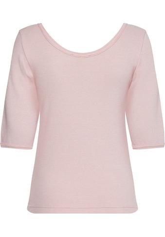 Tommy Hilfiger T-Shirt »SLIM VERTICAL STP OPEN-NK TOP SS«, mit großem... kaufen