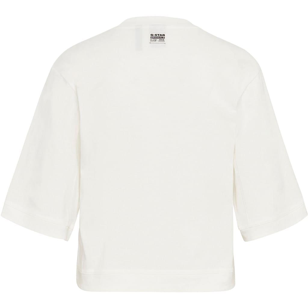 G-Star RAW T-Shirt »Boxy Fit RAW Embroidery T-Shirt«, mit RAW Grafikstickerei auf der Brust