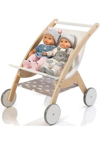 """MUSTERKIND® Puppen - Zwillingsbuggy """"Barlia, natur/weiß"""" kaufen"""