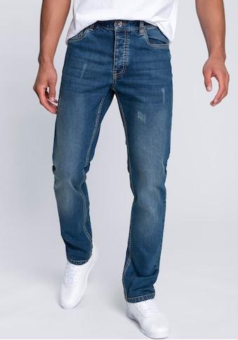 John Devin Straight-Jeans, in markanter Waschung kaufen