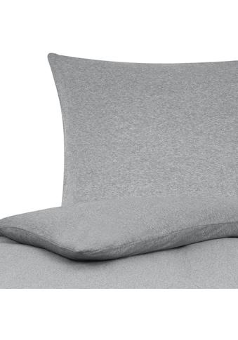 TRAUMSCHLAF Bettwäsche »Jersey Melange«, schlichte bügelfreie Ganzjahreswäsche kaufen