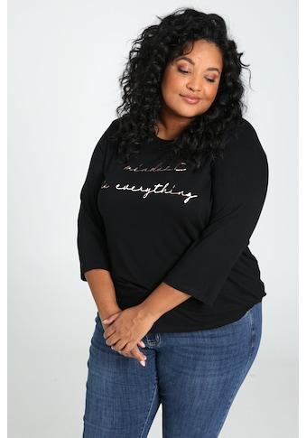 Paprika Print - Shirt »mit breitem Rundhals« kaufen