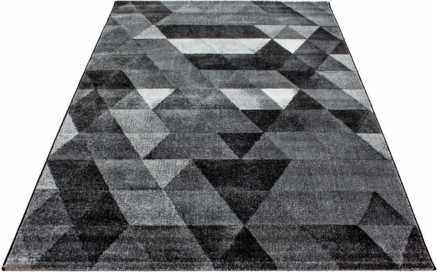 Teppich, »Lima 1920«, Ayyildiz Teppiche, rechteckig, Höhe 13 mm, maschinell gewebt   Heimtextilien > Teppiche > Sonstige-Teppiche   Schwarz   AYYILDIZ TEPPICHE