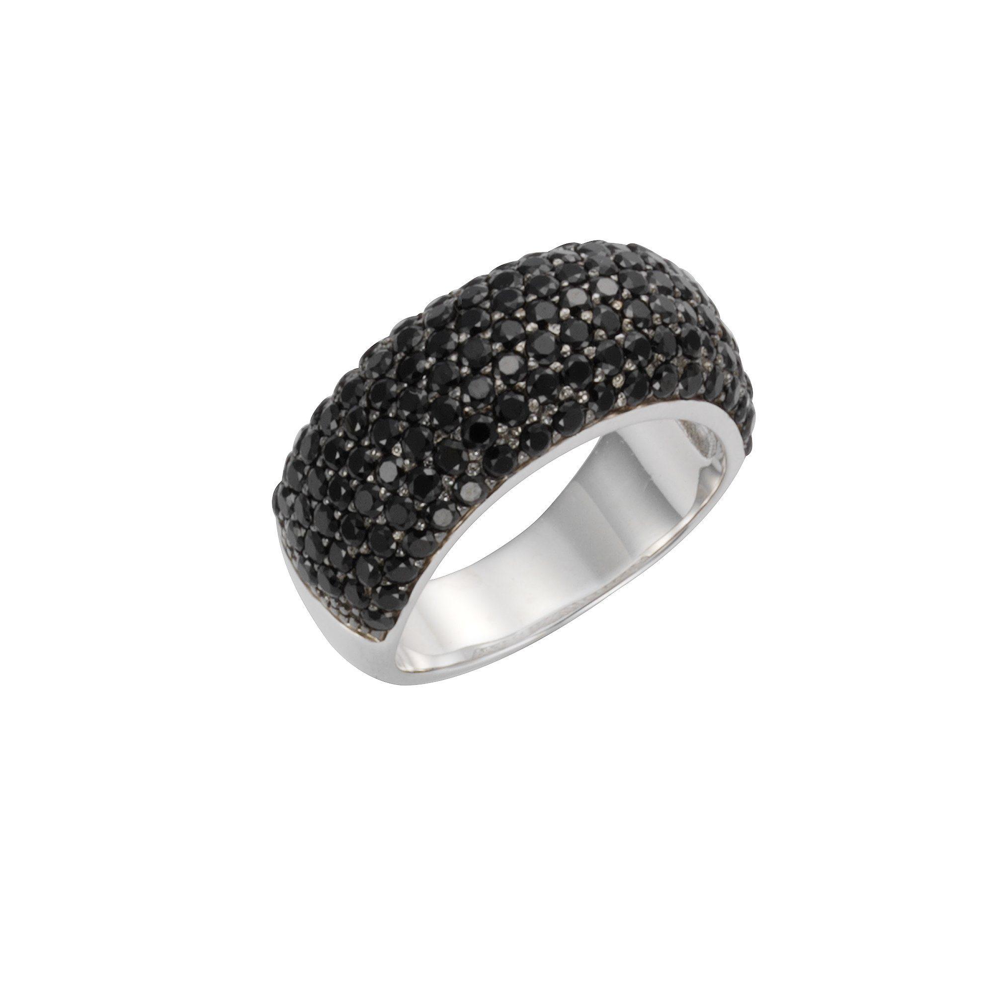 CELESTA Ring 925/- Sterling Silber synth. Spinell schwarz | Schmuck > Ringe > Silberringe | Celesta