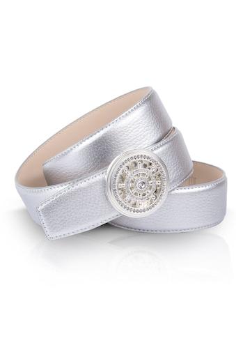 Anthoni Crown Ledergürtel, im Metallic-Look, maritimer Schließe kaufen
