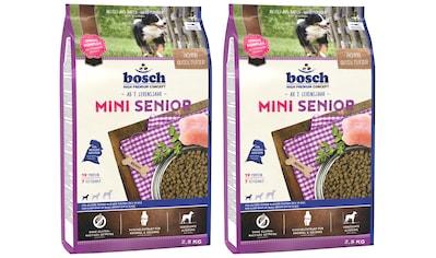 Bosch Petfood Trockenfutter »Mini Senior«, (2), 2 Beutel á 2,5 kg kaufen