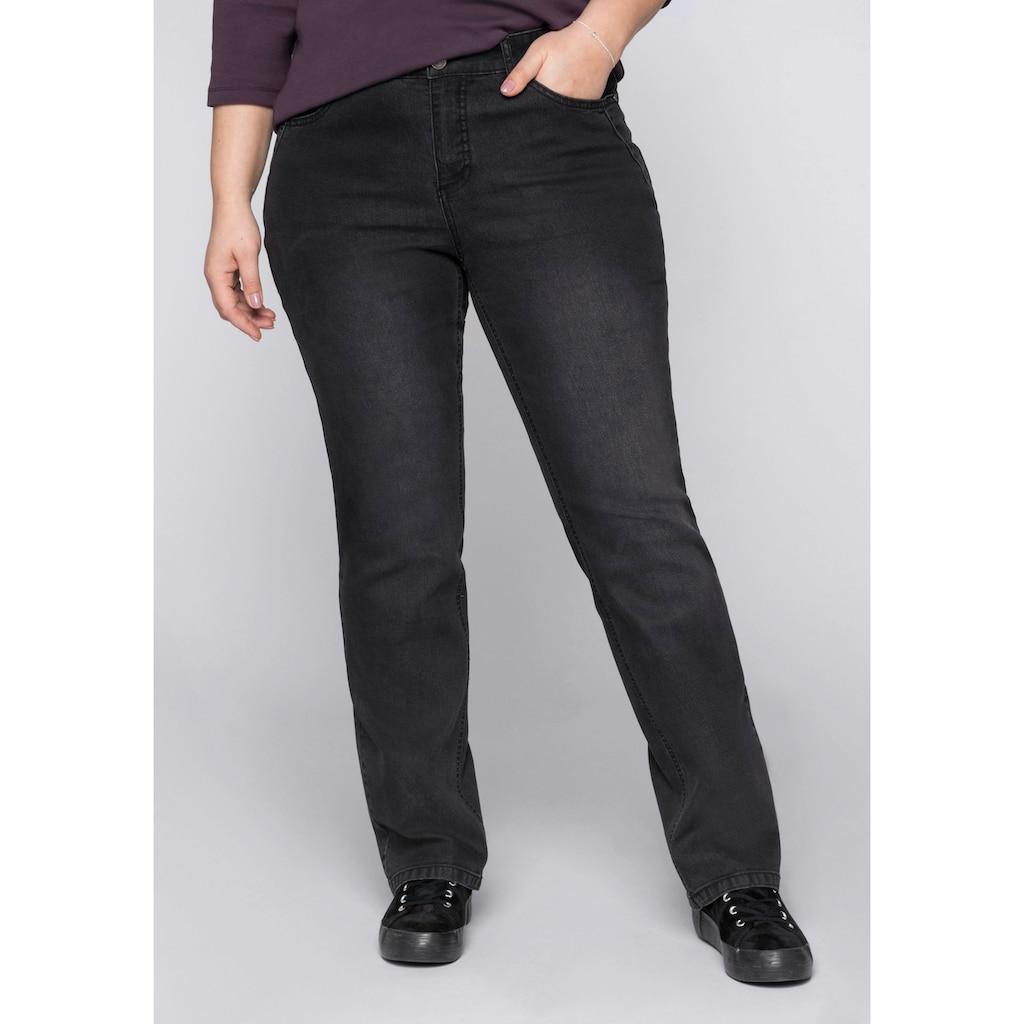 Sheego Stretch-Jeans, mit weitenverstellbarem Bund