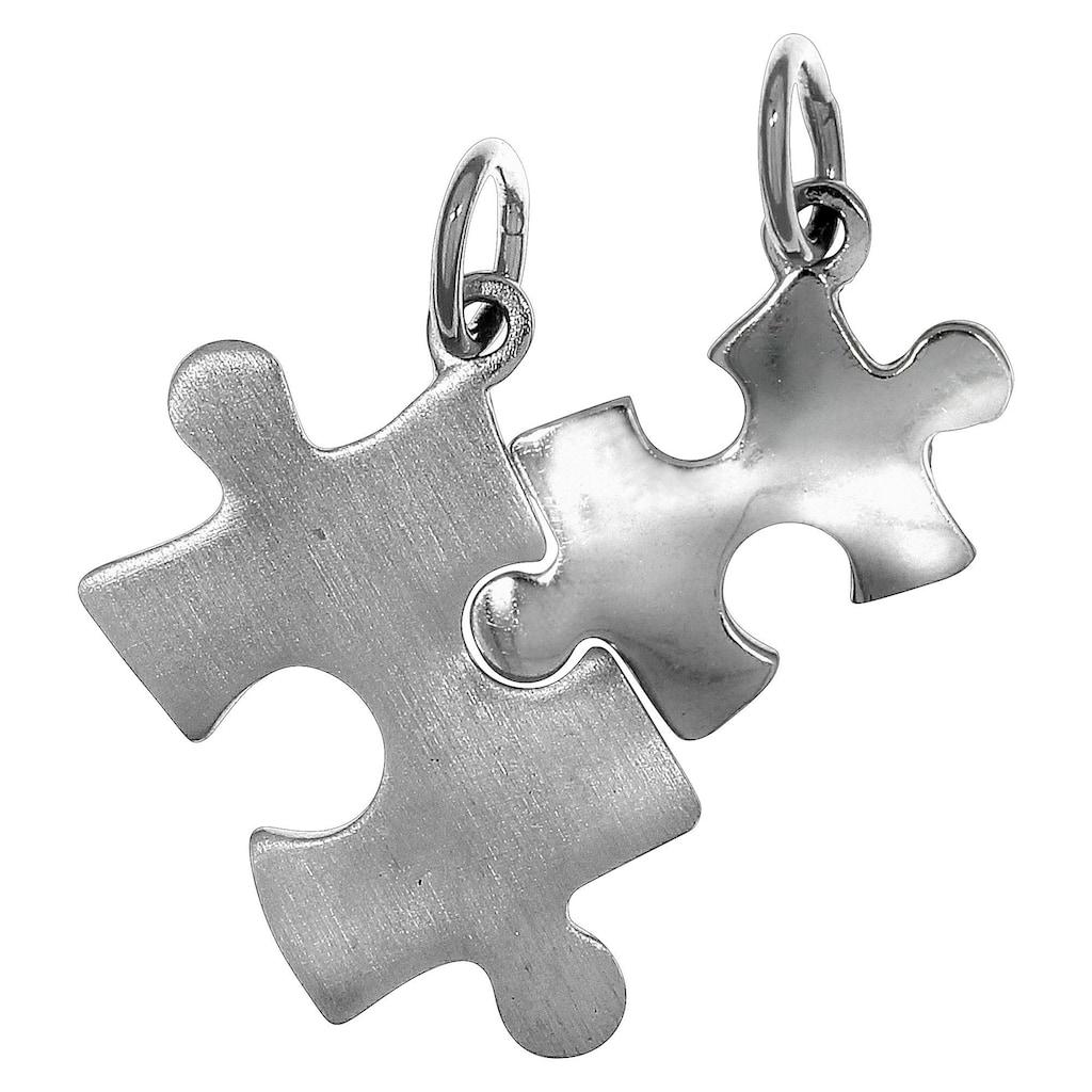 Vivance Kettenanhänger »925/- Sterling Silber 2tlg. Puzzle«, Anhänger