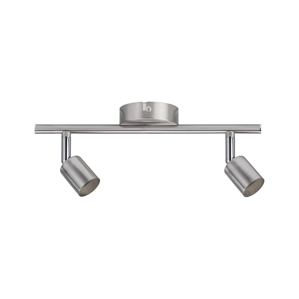 Paulmann LED Deckenleuchte »2er-Spot Carolina GU10, max 10W Nickel matt«, GU10