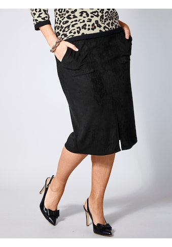 Sara Lindholm by Happy Size Rock mit Velours-Optik kaufen