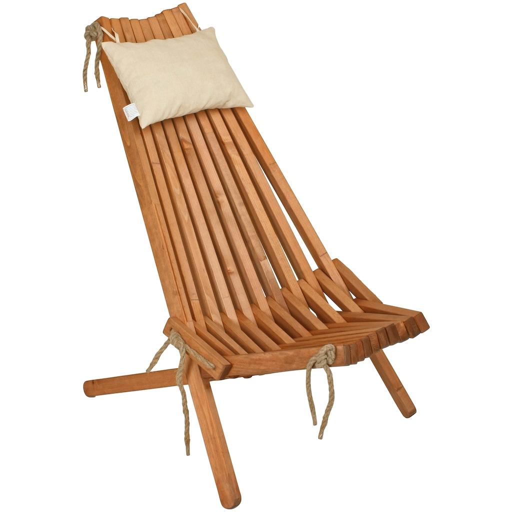 GARDEN PLEASURE Relaxsessel »Falun«, Kiefernholz, inkl. Kopfkissen