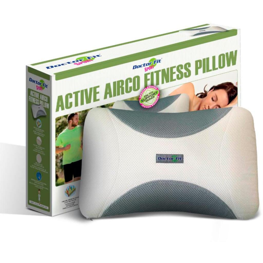 MPS TEXTILES Nackenstützkissen »Dr.Fit Active Airco Fitness Kissen«, (1 St.), Passt sich Hals und Nacken perfekt an