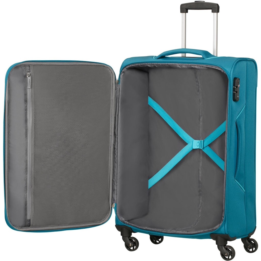 American Tourister® Weichgepäck-Trolley »Holiday Heat, 67 cm, petrol green«, 4 Rollen