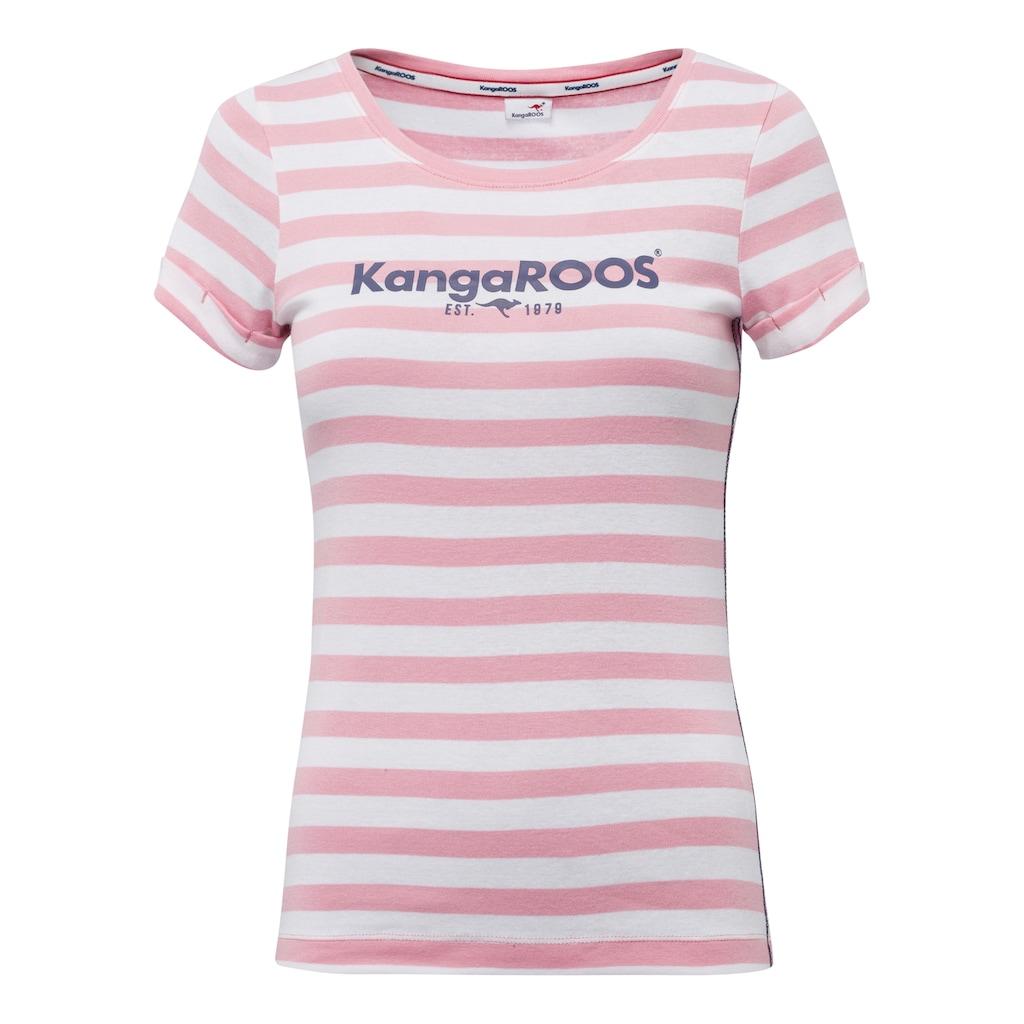KangaROOS T-Shirt, mit großem Logoschriftzug-Druck
