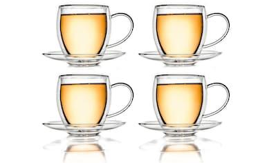 Creano Thermotasse, (Set, 4 tlg., 4 Tassen, 4 Untertassem), doppelwandig mit... kaufen