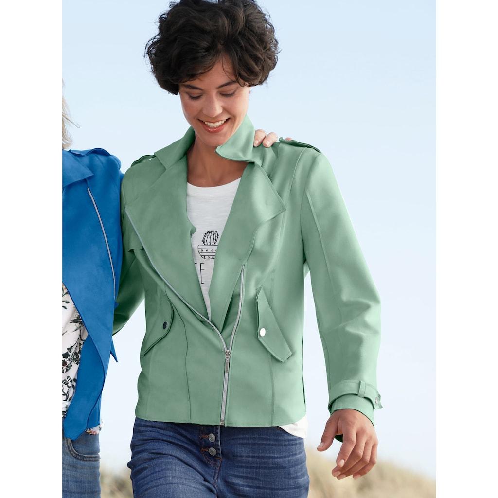 Dress In Lederimitatjacke, mit asymmetrischem Reißverschluss
