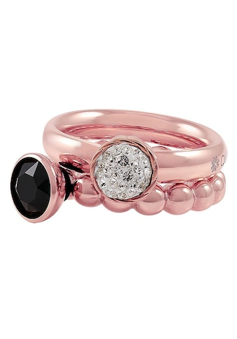 qudo Ring-Set »IC, O600107, O600108, O600109, O600110, O600111«, (Set, 4 tlg.), mit abnehmbaren Elementen, Glasstein und Swarovski® Kristallen kaufen