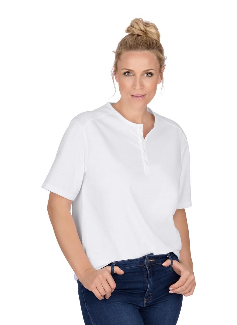 Trigema T-Shirt mit Knopfleiste DELUXE Baumwolle | Bekleidung > Shirts > T-Shirts | Trigema