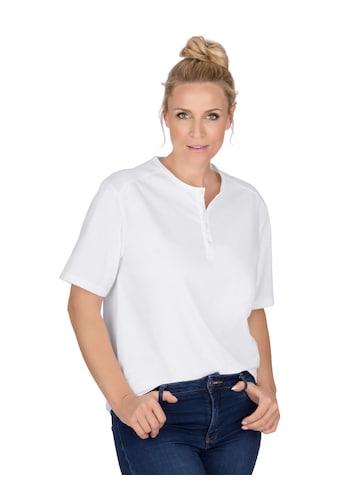 Trigema T-Shirt mit Knopfleiste DELUXE Baumwolle kaufen