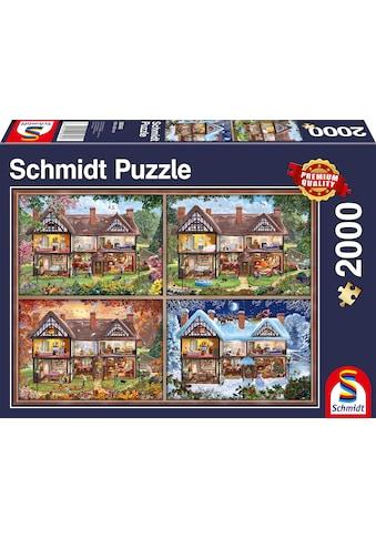 Schmidt Spiele Puzzle »Jahreszeiten Haus«, Made in Germany kaufen