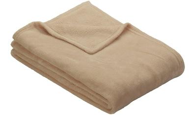 IBENA Wohndecke »Uni Fleecedecke Olbia«, einfarbig schick kaufen