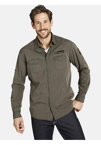 Jan Vanderstorm Langarmhemd »ATHUR«, mit Ärmeln zum Krempeln kaufen