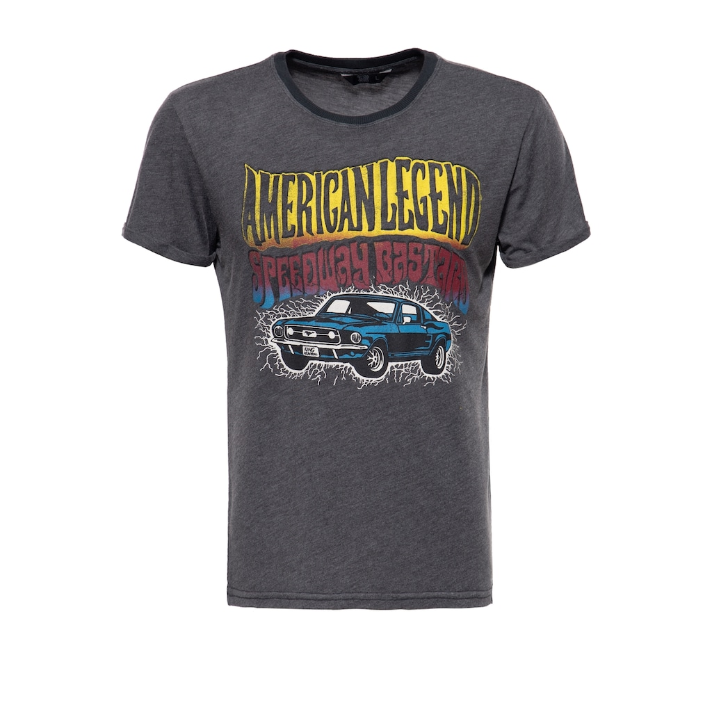 KingKerosin T-Shirt »American Legend«, mit Frontprint und Enzymwash-Effekt