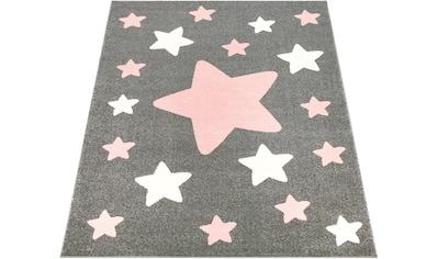 Paco Home Kinderteppich »Capri 330«, rechteckig, 14 mm Höhe, Kinder Design, Stern Motiv in Pastell-Farben kaufen