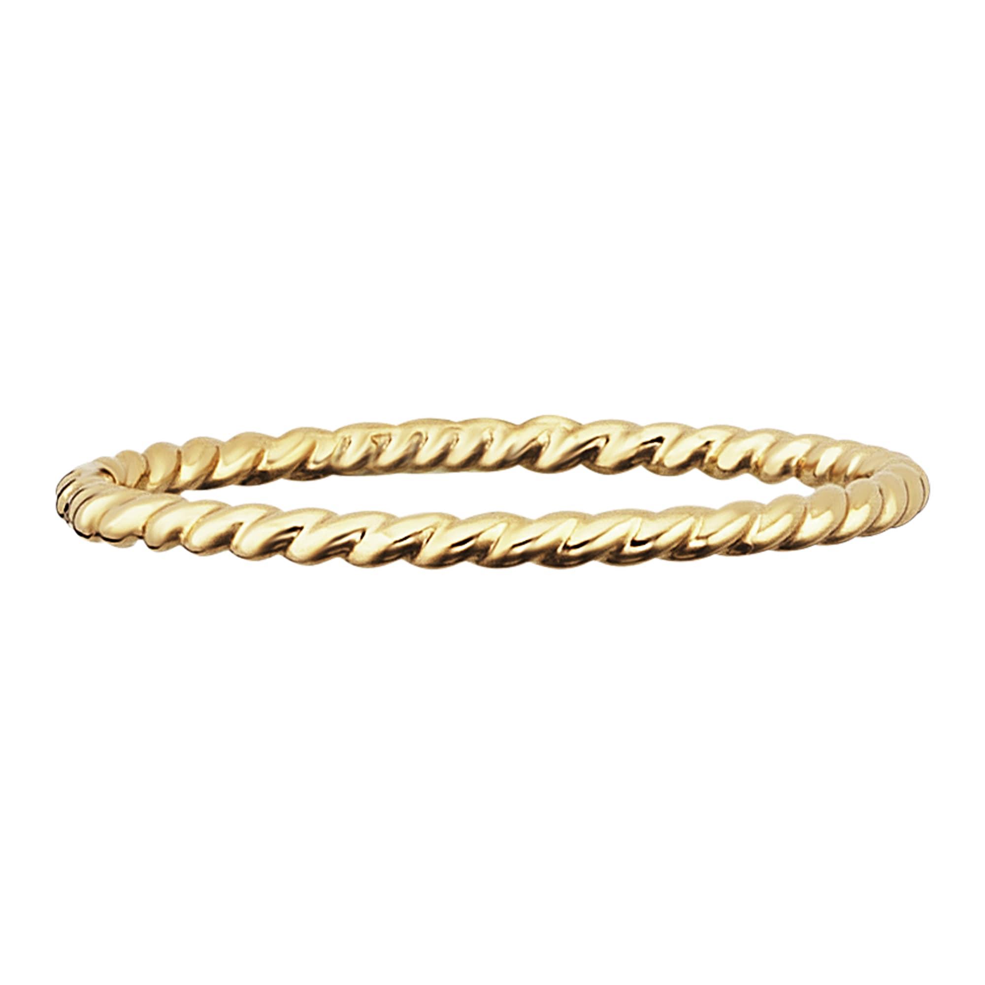 CAÏ Ring 925/- Sterling Silber gelb vergoldet matt   Schmuck > Ringe > Silberringe   Caï