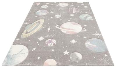 Lüttenhütt Kinderteppich »Planeten«, rechteckig, 13 mm Höhe, Hoch-Tief-Effekt, Motiv... kaufen